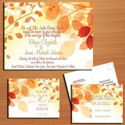 fall wedding invitations and save the dates fall branches autumn wedding collection invitation