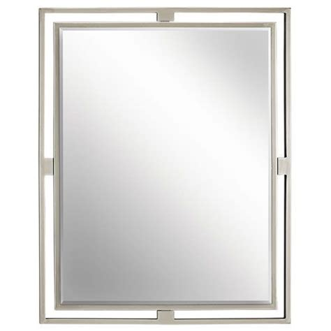 nickel framed bathroom mirror 25 best ideas about brushed nickel mirror on pinterest