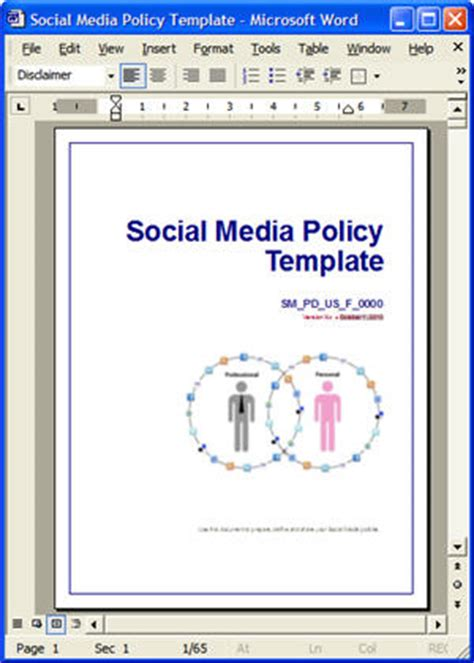 company social media policy template social media policy templates for blogs