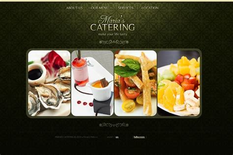 templates for catering website catering flash template 30872