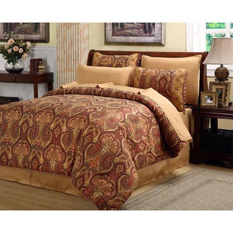 beautiful rich elegant red gold comforter set  pc cal king queen sammie pinterest