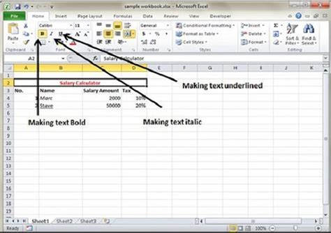Text Decoration Bold text decoration in excel 2010