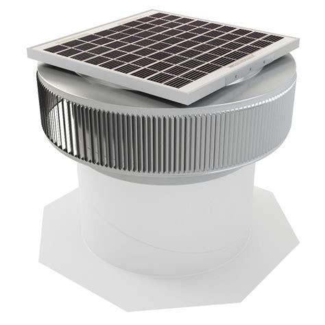 solar roof vent fan remington solar 20 watt 1280 cfm gray solar powered attic