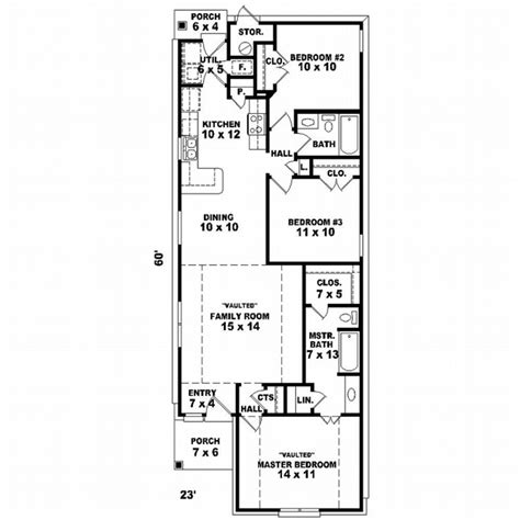 house design 15 x 60 house plans home plans and floor plans from ultimate plans
