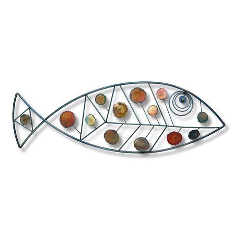 Decorative Metal Fish Wall Art by Large Wrought Iron Fish Nautical Metal Wall Art
