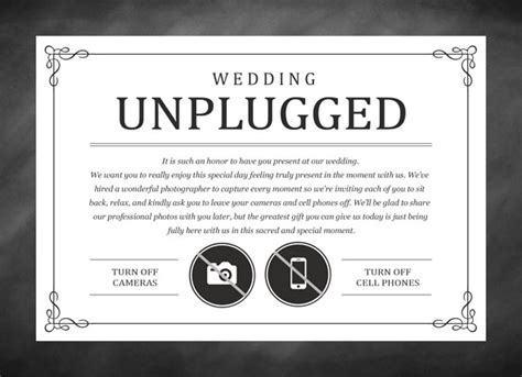 Unplugged Wedding Announcement by You Considered An Unplugged Wedding San Antonio