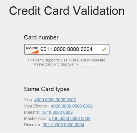 Credit Card Form Validation Script 12 newest free jquery plugins for this week 13 2015