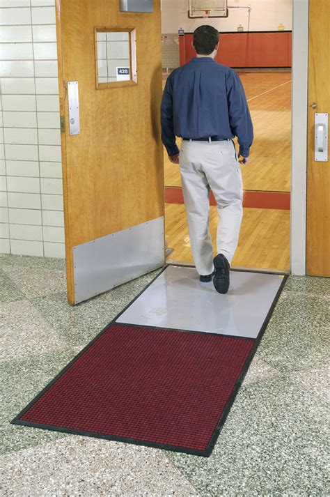 Carpeted gym floor sticky mats are clean room mats by american floor mats
