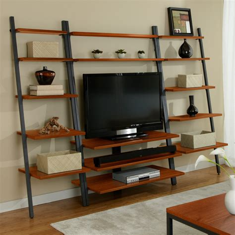 jesper parson ladder tv wall system  hayneedle