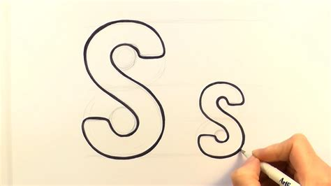 K Drawing Images by How To Draw A Letter S And S