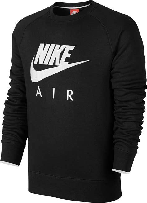 Nike Sweater Ks nike air aw77 heritage fleece sweater zwart
