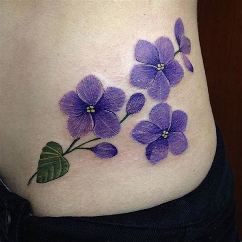 violet flower tattoo violet flower flowers ideas for review