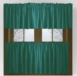 What Is A Valance Sheet Solid Teal Colored Caf 233 Style Curtain Includes 2 Valances