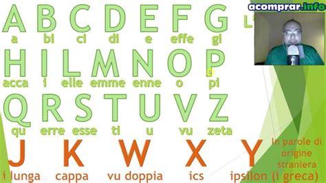 lettere alfabeto italiano completo lezione 1 l alfabeto italiano clase gratis de italiano