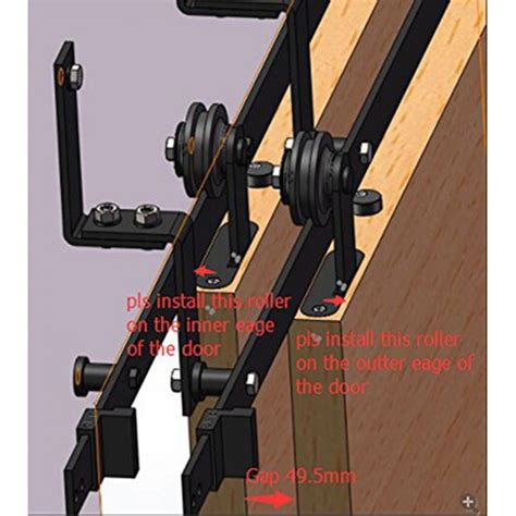 Winsoon 5 16ft Bypass Sliding Barn Door Hardware Double Bypass Barn Door Track System