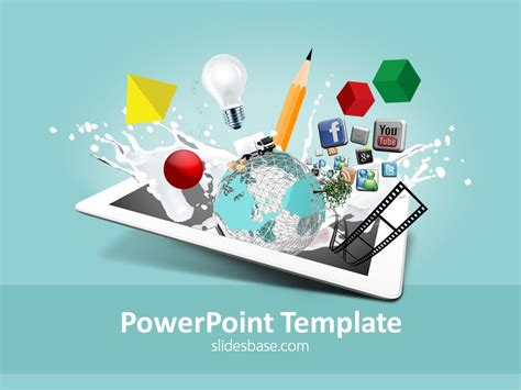 multimedia powerpoint templates creative design powerpoint template slidesbase