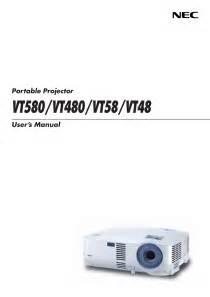 Proyektor Nec Vt48 Free Pdf For Nec Vt48 Projector Manual