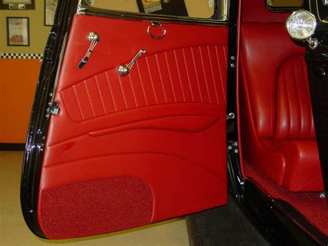 door panel upholstery material hot rod interior door panels 1934 ford coupe m and m