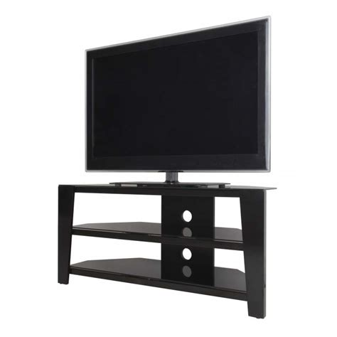corner tv stands for 55 inch tv avf vico 55 inch corner tv stand glossy black fs1050vib a