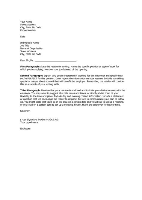 Cover Letter Exle Doc by Coverletter Sles Coverletters And Resume Templates