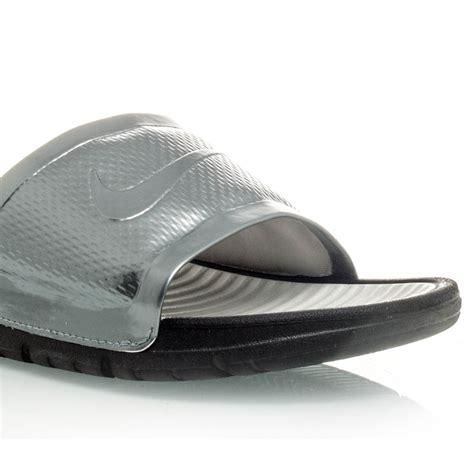 Sandal Adidas Predator Slide Black Grey Code Ad 37 nike benassi solarsoft womens slides black grey sportitude