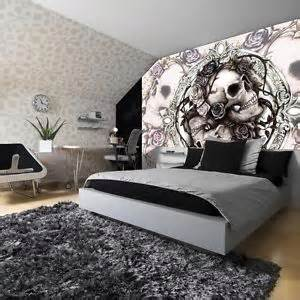 Skull Bedroom Decor Photo Wallpaper Murals Decorations Art Home New Skulls