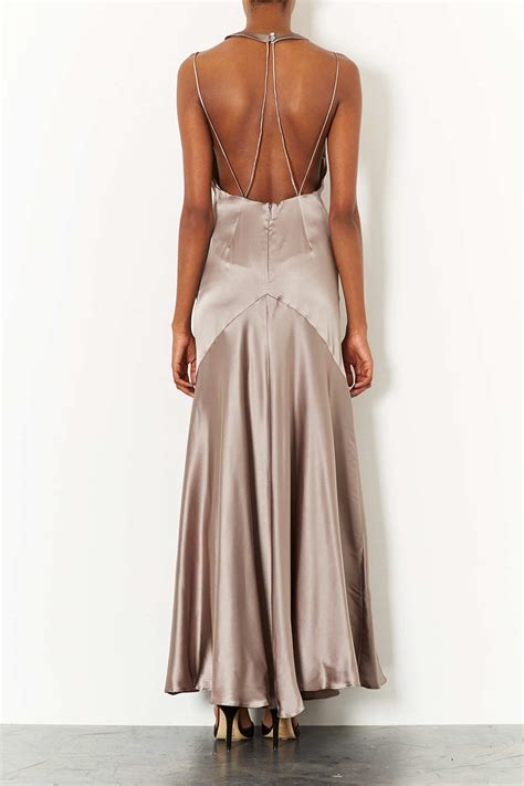 Dress Maxi Jumbo Limited lyst topshop limited edition strappy bias cut maxi dress in