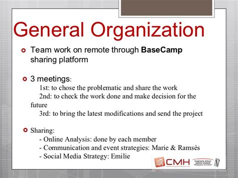 Strategy Mba Remote by Viadeo Student Challenge The Feedback From Cmh Team Mba