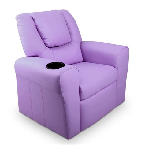 padded leather recliner chair purple furniture wizard