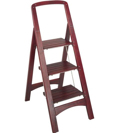 Wood 3 Step Folding Stool by Wood Folding Step Stool In Step Stools