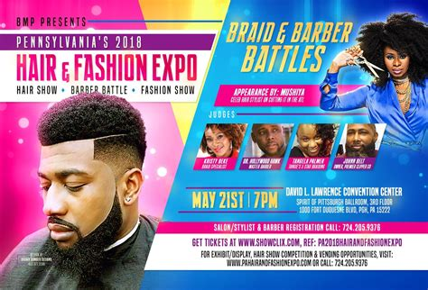 flyers for hair shows pa 2018 hair and fashion expo