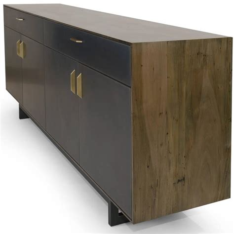 Gotham Furniture by Gotham Credenza Customizable Wood Metal And Resin For