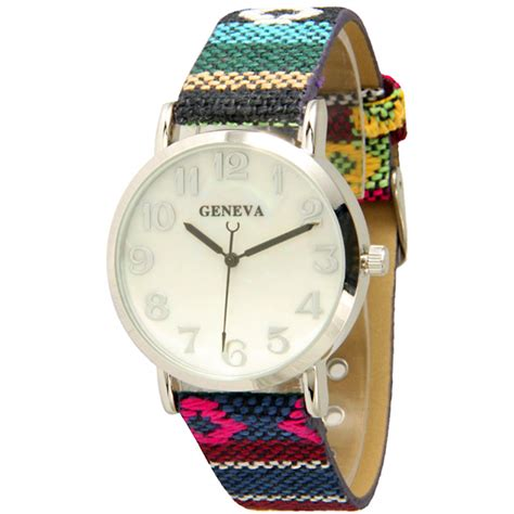 Geneva Rainbow Pink geneva s tribal watches