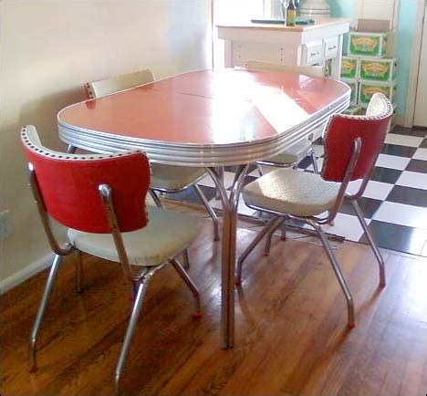 fifties style kitchen tables my retro atomic 50s dinette set