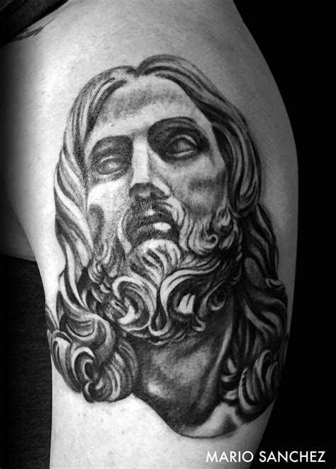 black jesus tattoo black and grey jesus realism black tattoos