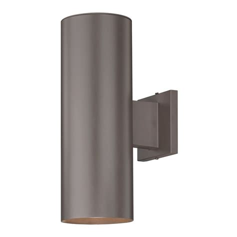 Outdoor Wall Lighting Up Bronze Cylinder Outdoor Wall Light Ebay