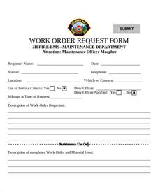 Bentley Work Order Sle Work Request Form 9 Exles In Word Pdf