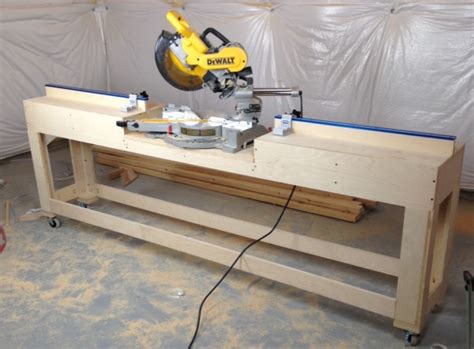 build miter saw bench our home from scratch