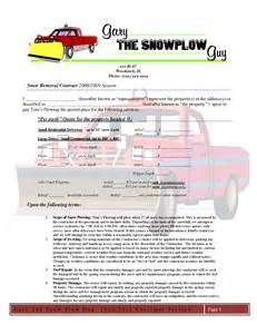doc 585600 snow plowing contract template snow plowing