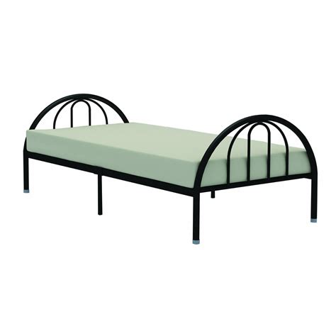 Metal Frame Beds Black Metal Platform Bed Frame With Arch Headboard Footboard Fastfurnishings