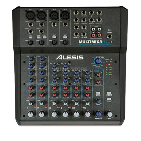 Mixer 8 Channel Bekas alesis multimix 8 usb fx 8 channel mixer with effects