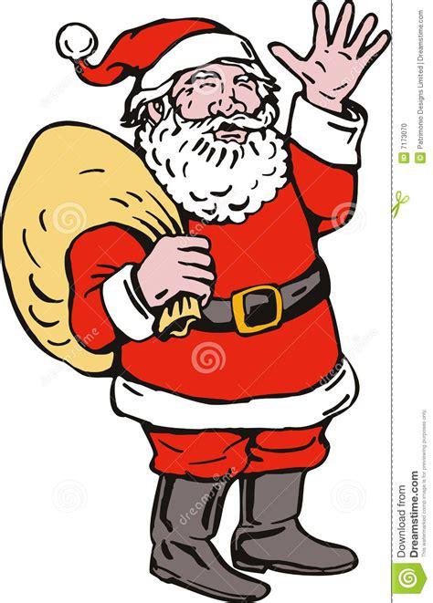 anmated waving snata santa claus waving stock photo image 7173070