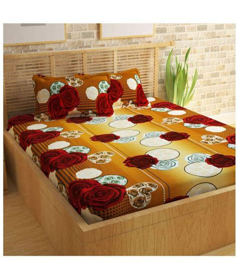 100 best bed sheet material story home 120 tc 100 story home 100 cotton 120 tc beige double bedsheet with 2