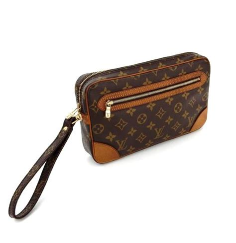 louis vuitton brown marly dragonne toiletry  monogram