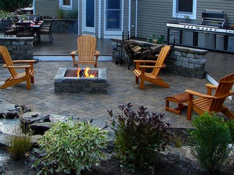 patio designs with pit for outdoor house decor