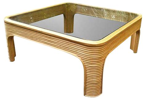 Bamboo Glass Coffee Table Vintage Bamboo Coffee Table With Glass Top Omero Home