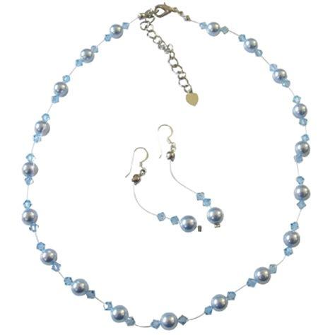 Handcrafted Swarovski Jewelry - handcrafted jewelry swarovski blue pearls aquamarine