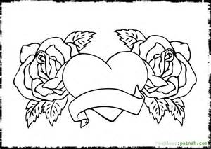free printable coloring pages roses heart coloring