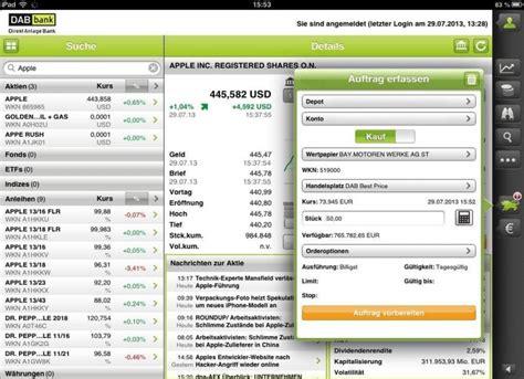 dab bank tradingcenter dab bank mobile trading unterwegs