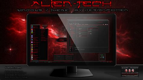 technology themes for windows 7 free download alien tech windows 7 theme by designfjotten on deviantart